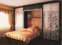 шкаф купе в спальню с рисунком фото 84