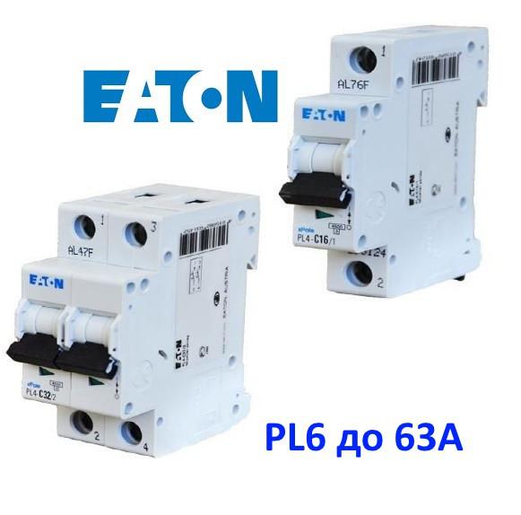 PL6 до 63А 6kА автоматические выключатели Eaton