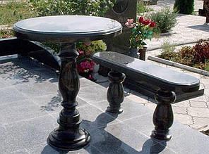 Столы лавки из гранита любой формы и размера №0001