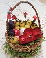 Декоративная корзинка на Пасху. Пасхальные подарки и украшения, фото 1