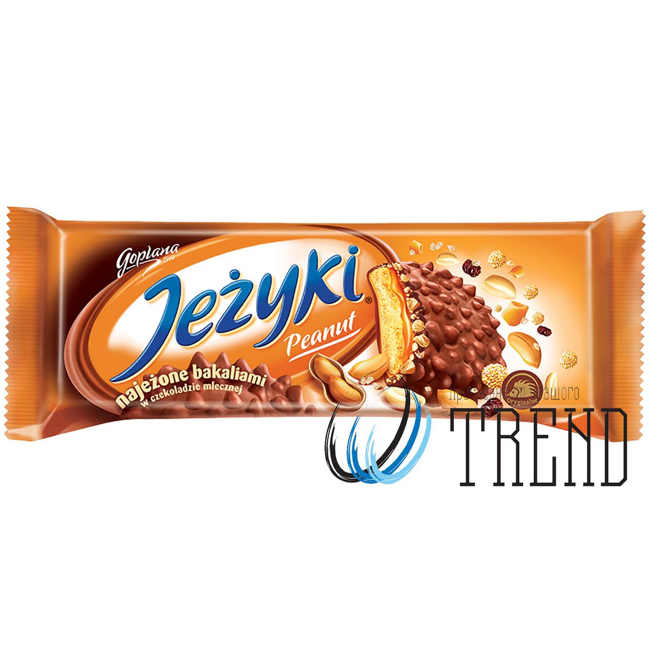 Jezyki Peanut печиво (арахіс в молочному шоколаді) 140 гр.