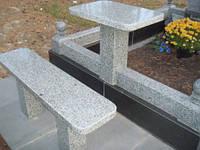 Столы лавки из гранита любой формы и размера №0005