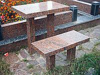 Столы лавки из гранита любой формы и размера №0011