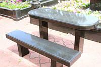 Столы лавки из гранита любой формы и размера №0026