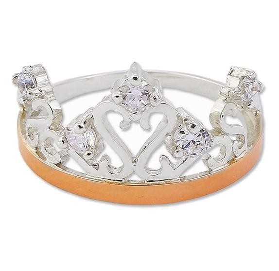 Кольцо корона с золотыми накладками 30501.