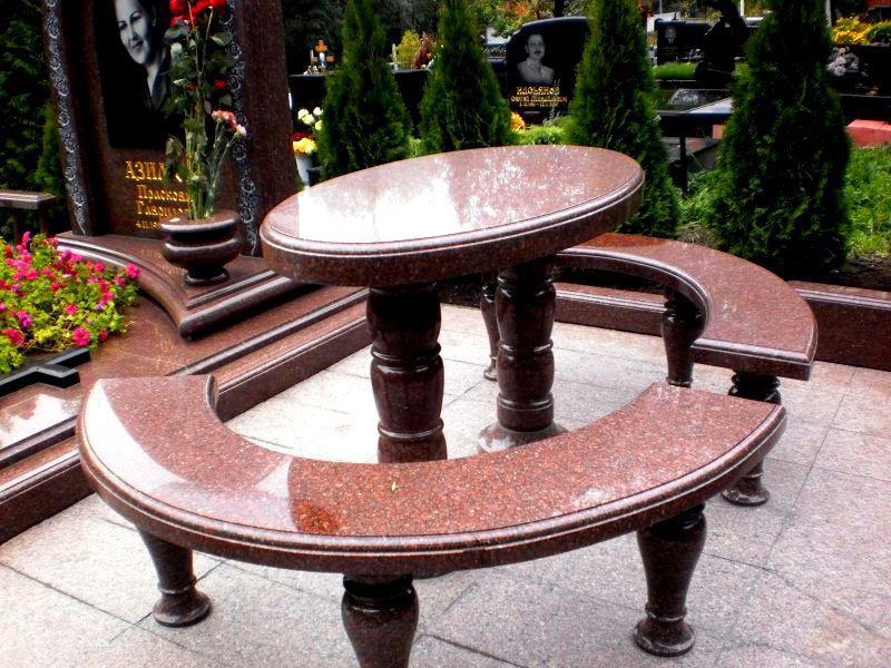 Столы лавки из гранита любой формы и размера №0041