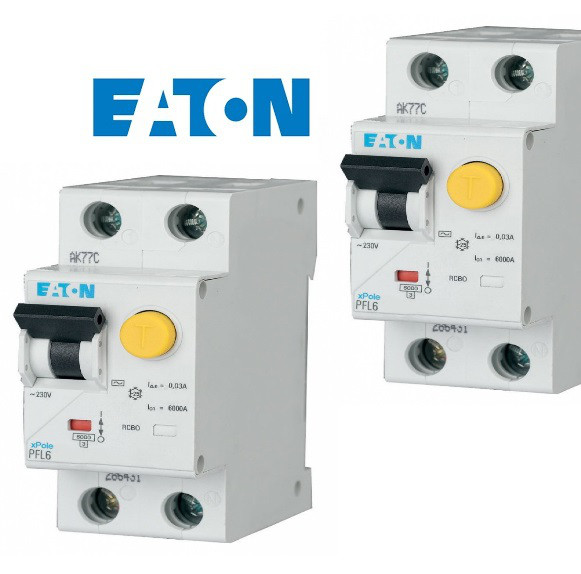 EATON Дифференциальные автоматические выключатели