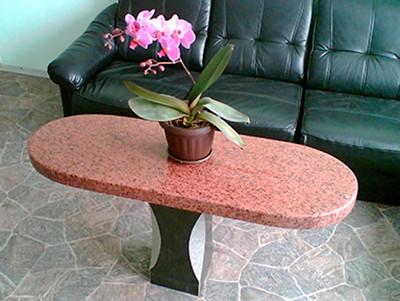 Столы лавки из гранита любой формы и размера №0052