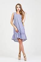 Платье летнее Нино 44, полоска голубая