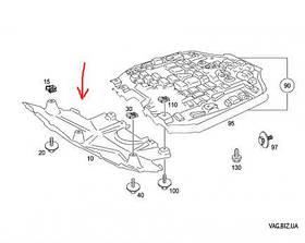Защита переднего бампера Mercedes GL X164 2005-2011