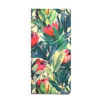 """Турконверт (обложка для документов) с дизайнерским рисунком """"Цветы"""""""