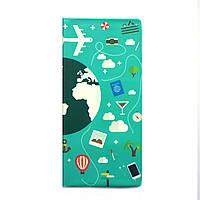 """Турконверт (обложка для документов) с дизайнерским рисунком """"Глобус"""""""