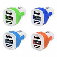 Автомобильное зарядное USB 3А 2 USB  AKO-CUA-011