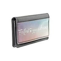 """Кожаный кошелек с дизайнерским рисунком """"За своей мечтой"""""""