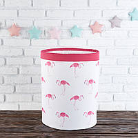Корзина с фламинго