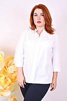 Блуза большого размера Лада, белая блузка большого размера 50, белый