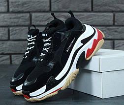 Женские кроссовки Balenciaga Triple S Black/White/Red, фото 3