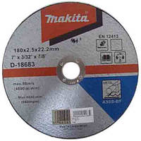 Отрезной диск по металлу 180x2,5x22,23мм Makita D-18683