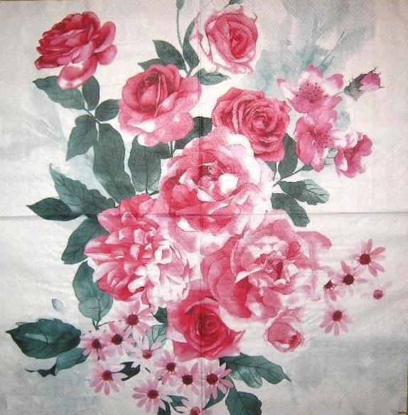 Салфетка декупажная Розы 2014