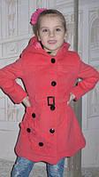 Пальто для девочки розовое 122р , фото 1