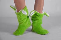 Махровые тапочки Зайчики Зеленые
