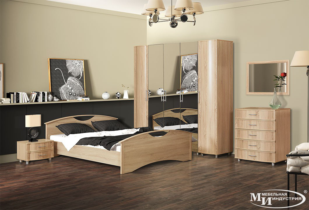 Спальня модульная Камелия комп.1