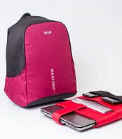 Рюкзак спортивный BOOSTER(RBO8003) черно-бордовый, фото 1
