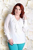 Блуза большого размера Милания  белый белый, 60
