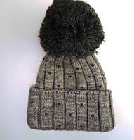Шапка вязанная для девочки зима, фото 1