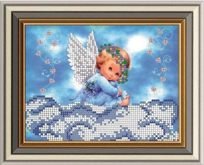 """Схема для вишивки бісером """"Ангелочок на хмаринці"""""""