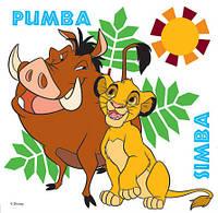 Картина раскраска 1 Вересня Пумба и Симба (950936) 25 х 25 см