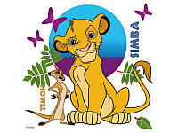 Картина раскраска на холсте 1 Вересня Симба и Тимон (950937) 25 х 25 см
