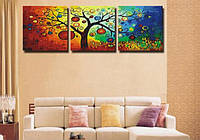Картина по номерам DIY Babylon Триптих Денежное дерево (DZ3011) 50 х 150 см