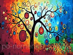 Картина по номерам Абстракция Дерево богатства (CG230) 40 х 50 см DIY