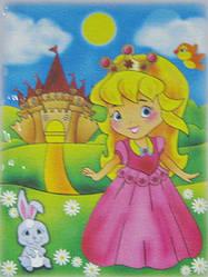 Набор для рисования Маленькая принцесса (7103) 18 х 24 см (Без коробки)