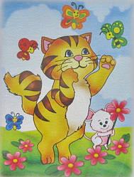 Картина раскраска Кошки мышки (7105) 18 х 24 см (Без коробки)
