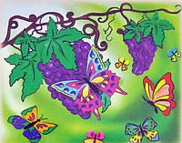 Картина раскраска Бархатные бабочки (7106) 25 х 30 см