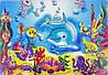 Картина раскраска  Подводный мир  (7115)
