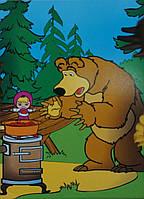 Картина раскраска Готовим варенье (Маша и Медведь) (18543) 20 х 30 см
