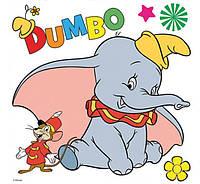 Картина раскраска 1 Вересня Дамбо и мышонок (950942) 25 х 25 см