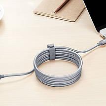 Стяжка для кабеля ESR резиновая (Серая), фото 3