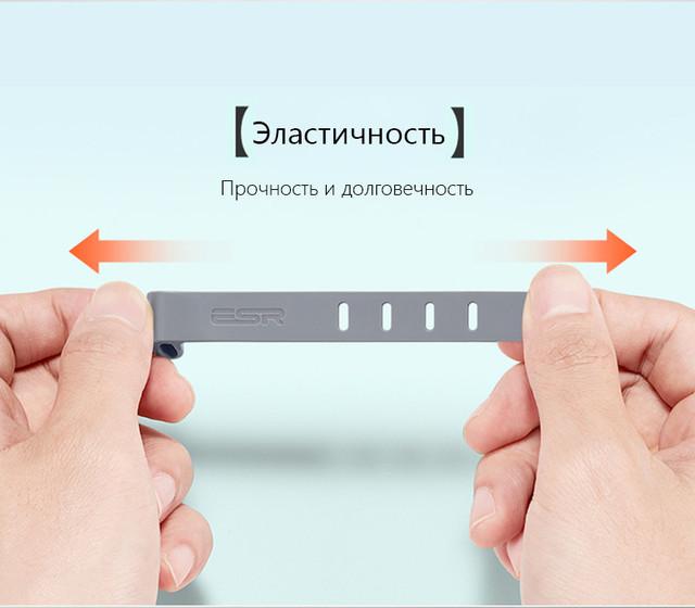 Стяжка для кабеля ESR резиновая (Серая)