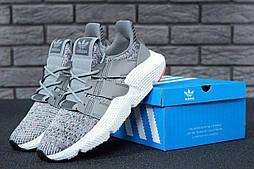 Мужские кроссовки Adidas AF 1.4 Primeknit grey/white. Живое фото. Реплика ААА+