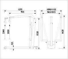 Складной гидравлический кран 550 кг, AC Hydraulic, WJN5EUR, фото 3