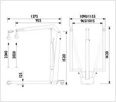 Складной гидравлический кран 1100 кг, AC Hydraulic, WJN10EUR, фото 3