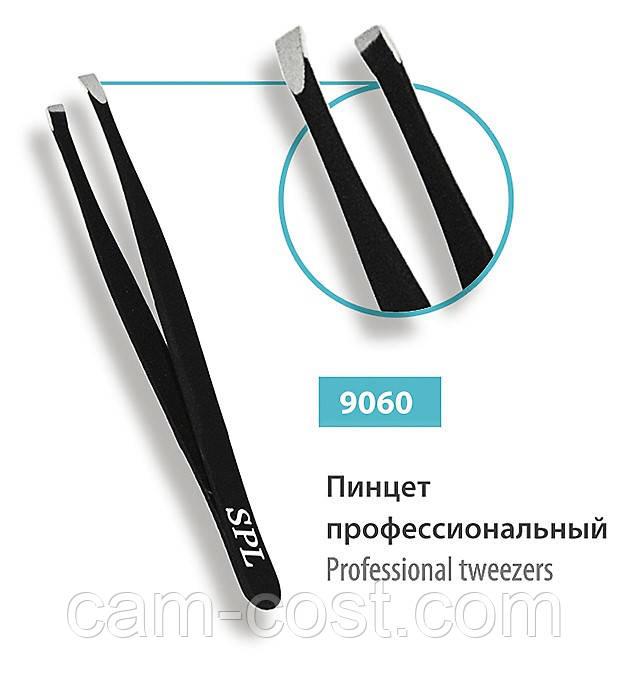 Пинцет профеcсиональный косой SPL 9060