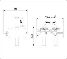 Ямный подъемник пневмогидравлический 10 т, AC Hydraulic, GD100-2M, фото 3