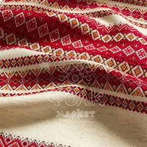 Ткань для вышиванок с украинским орнаментом Рандеву