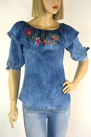 блузка джинсова з вишивкою Caro ledi, фото 2