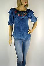 блузка джинсова з вишивкою Caro ledi, фото 3